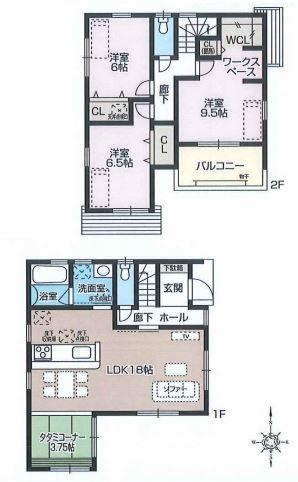 【1号棟】尼崎市田能3丁目(新築戸建)
